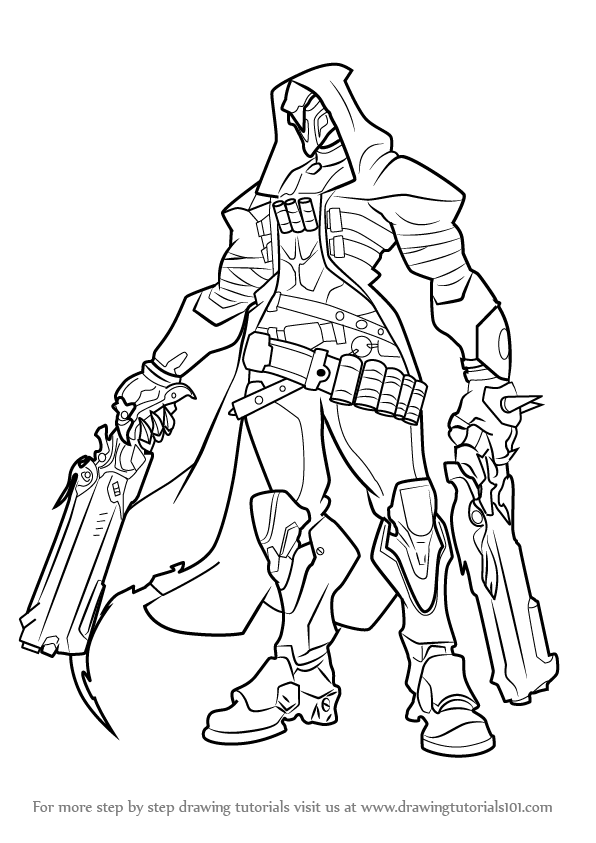 Learn How to Draw Reaper from Overwatch (Overwatch) Step