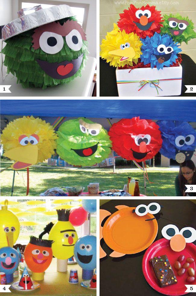 sesame street party decor ideas fun with faces sesame street rh pinterest com