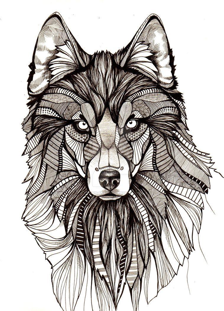Картинки волки тату