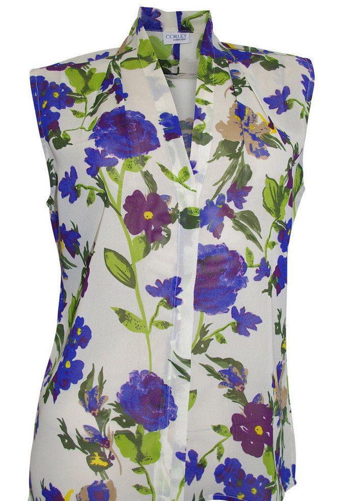 e29943c01679 Details zu Damenbluse Gr.42 neu lila kariert Baumwolle kurzer Arm Nr ...
