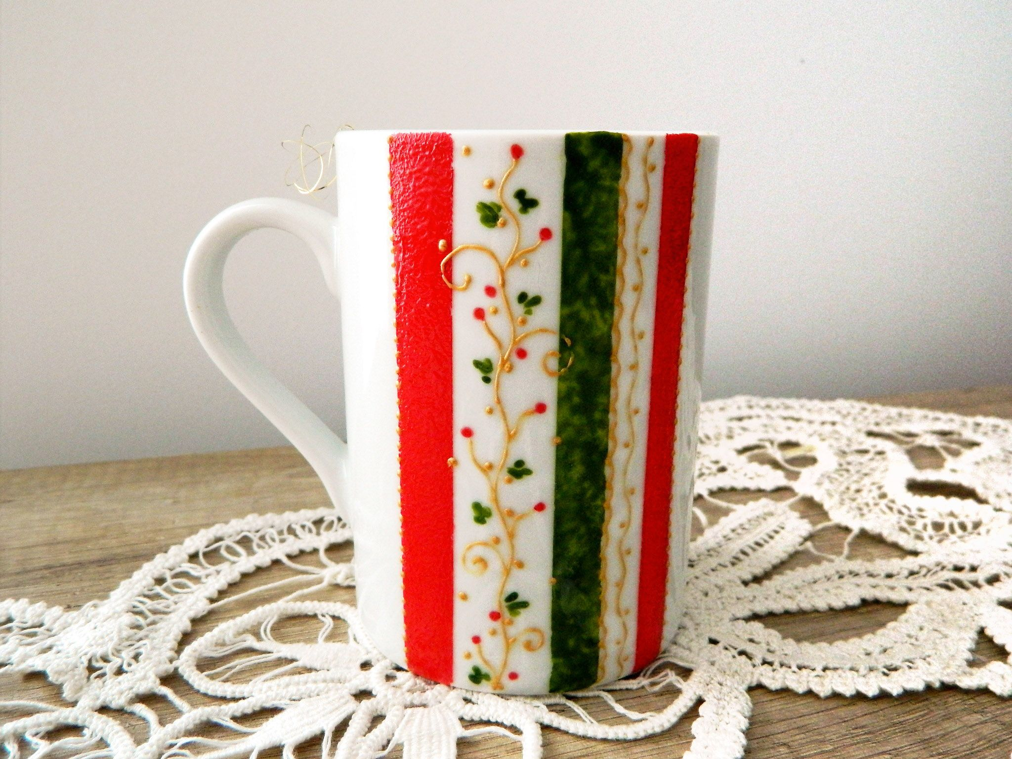 Hand painted Christmas mug!