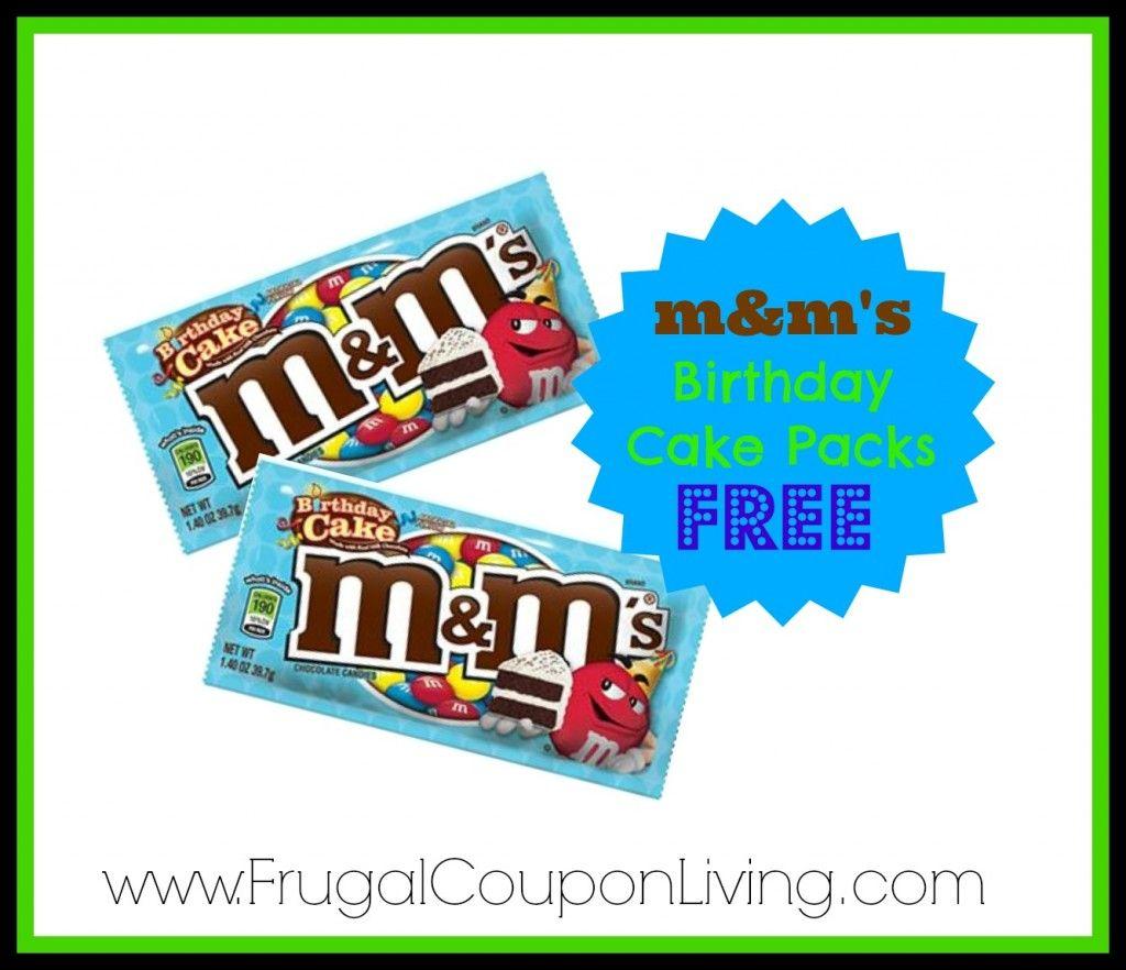 Birthday Cake M&Ms Coupon | Individual Packs FREE after CVS ECBs @cvs_extra #coupon #birthday #mandms #deal #hotdeals