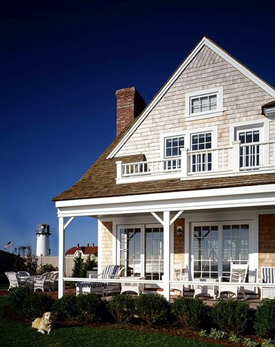 victorian homes balcony second floor | House at the Chatham Light
