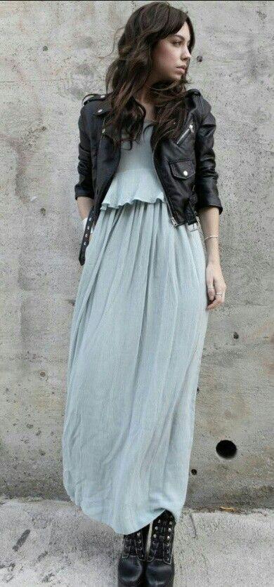 Jackets over maxi dresses