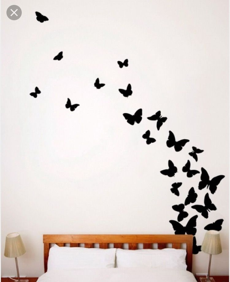 Pin By Kyriaki Mita On Draw Butterfly Wall Decals Butterfly Wall Wall Mural Decals