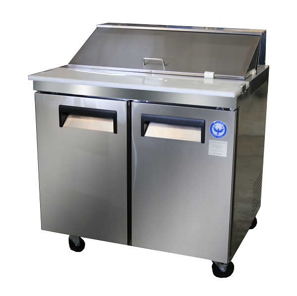 PSTHC Solid Door Sandwich Prep Table New Commercial Sandwich - Commercial sandwich prep table