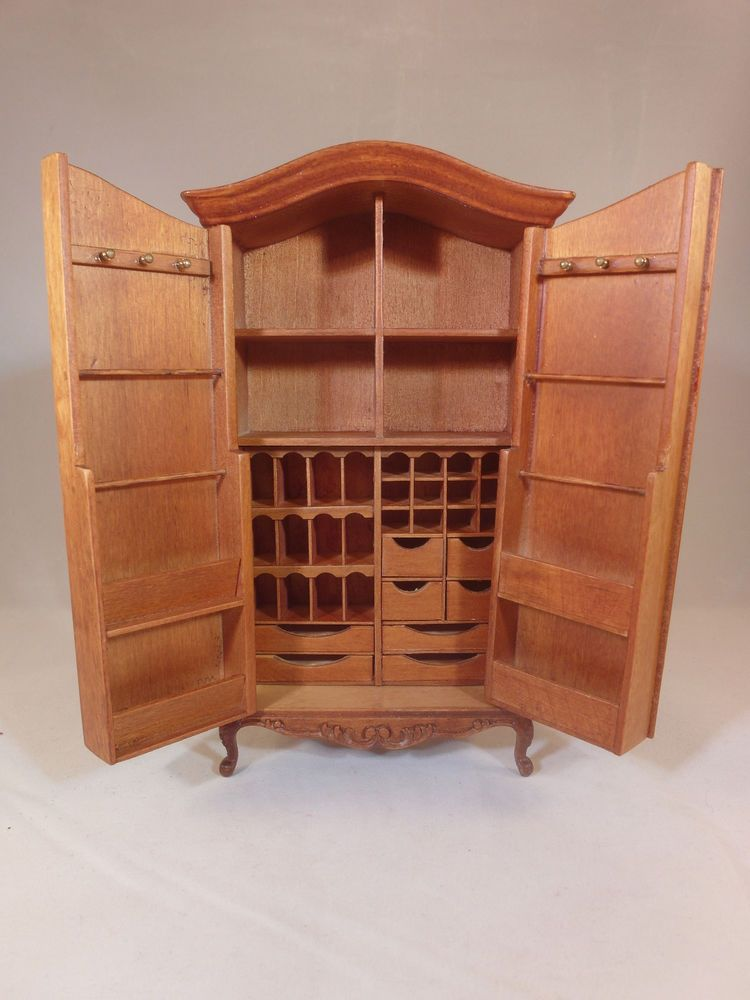 DOLLHOUSE FINE 1//12 SCALE MINIATURE FURNITURE Hand Carved Open type Bookcase