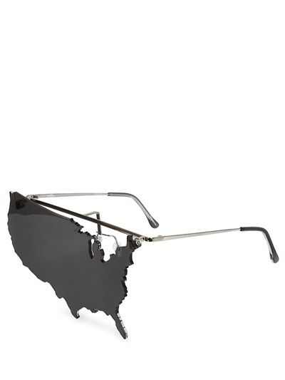 6102eea2d138 LINDA FARROW - JEREMY SCOTT AMERICAN MAP SUNGLASSES