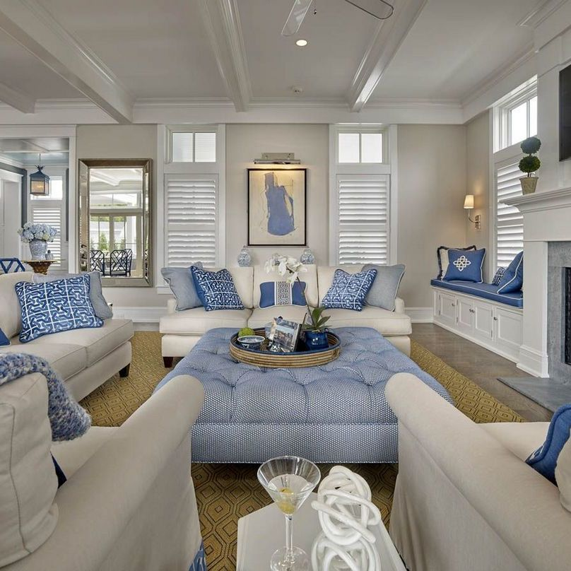 40 Why People Aren T Discussing Beautiful Navy Blue And White Living Room Decor Eclare Coastal Decorating Living Room Coastal Living Rooms Beach Living Room