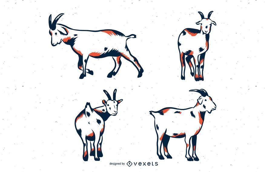 Set of goats