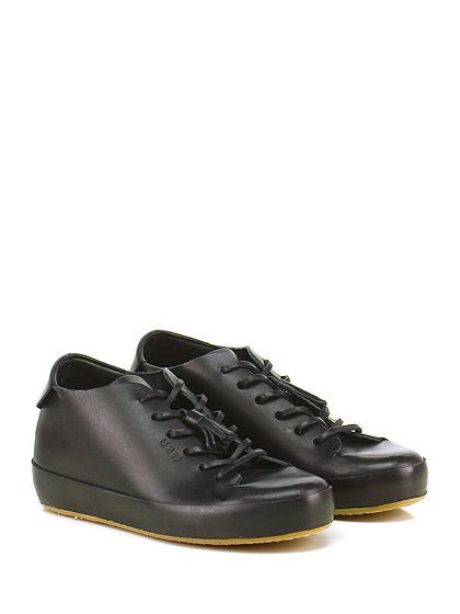 Sneaker Nero Leather Crown | Sneakers FW2016 | Scarpe basse