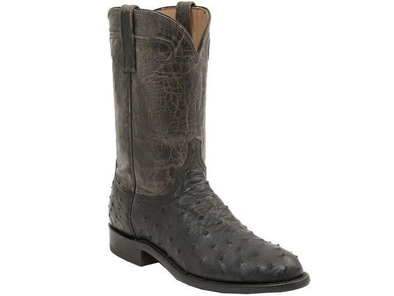 7f1d4b10c28 Shop New Lucchese HL3004 Rusk Mens Full Quill Ostrich and Mad Dog ...