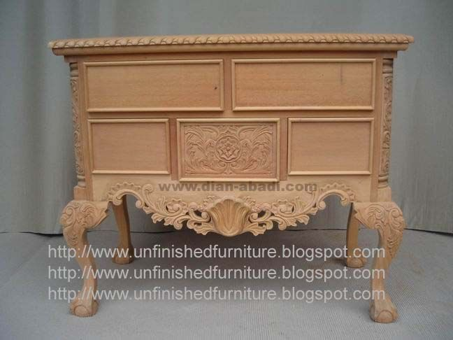 Marvelous Unfinished Mahogany Furniture, Chippendale Lowboy Cabinet 5 Drawer, Made Of  Fine Solid Kiln Dry