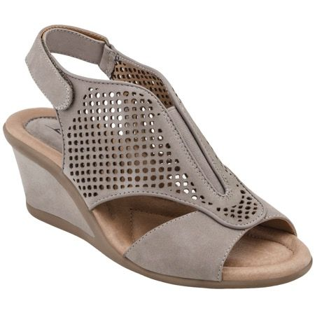 This fabulously fun wedge sandal is made for long days on your feet - with exceptional breathability and stretch material that expands and contracts with every step for blissful comfort.