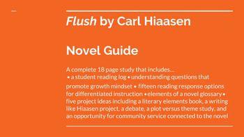 Flush Novel Study Student Guide Independent Reading Activities Student Reading Student Guide