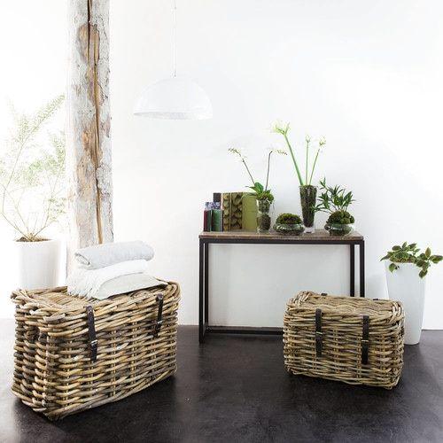 konsolentisch im industrial stil aus metall und massivholz b 119 cm schwarz konsolen. Black Bedroom Furniture Sets. Home Design Ideas
