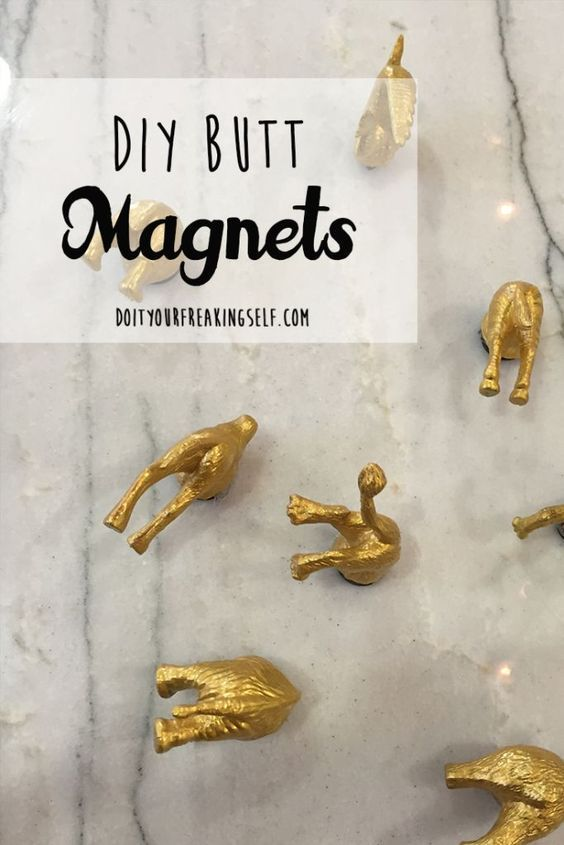 Photo of Animal Butt DIY Magnets – Do It Your Freaking Self