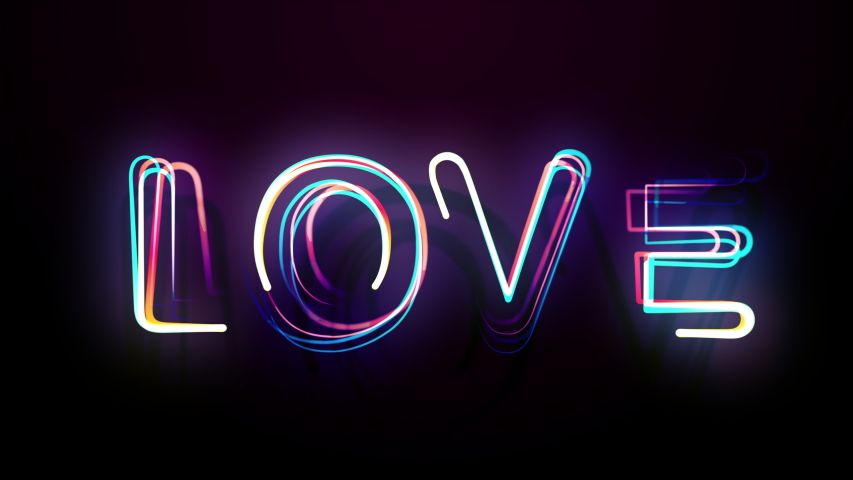 Stylish Colorful Bright Lettering Love Stock Footage Video (100% Royalty-free) 1048393195   Shutterstock