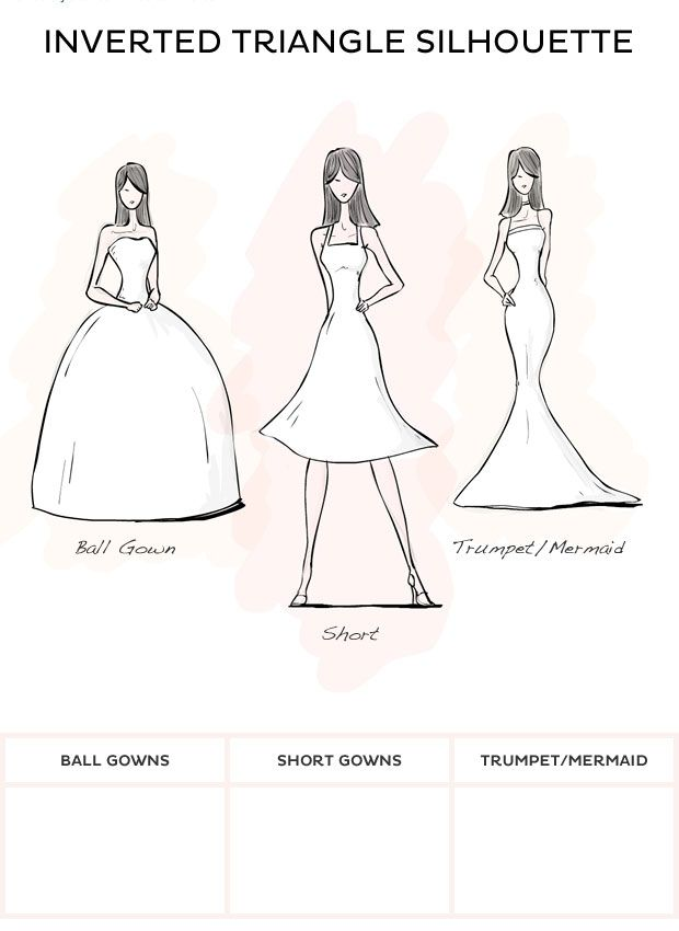 Wedding dress style inverted triangle style wedding for Wedding dresses by body shape