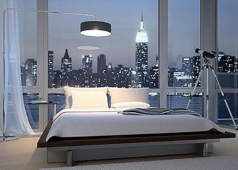 New York Loft Bedroom Views Home Beautiful Bedrooms