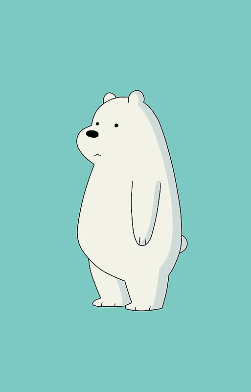 Ice Polar Bear Cartoon Iphone Case By Amysian Wallpapers