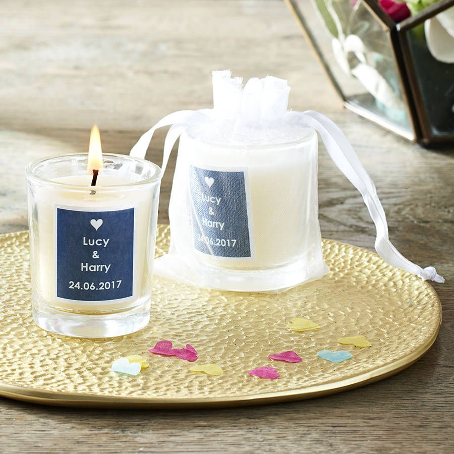 Personalised Name Wedding Favour Candles | Wedding favour candles ...