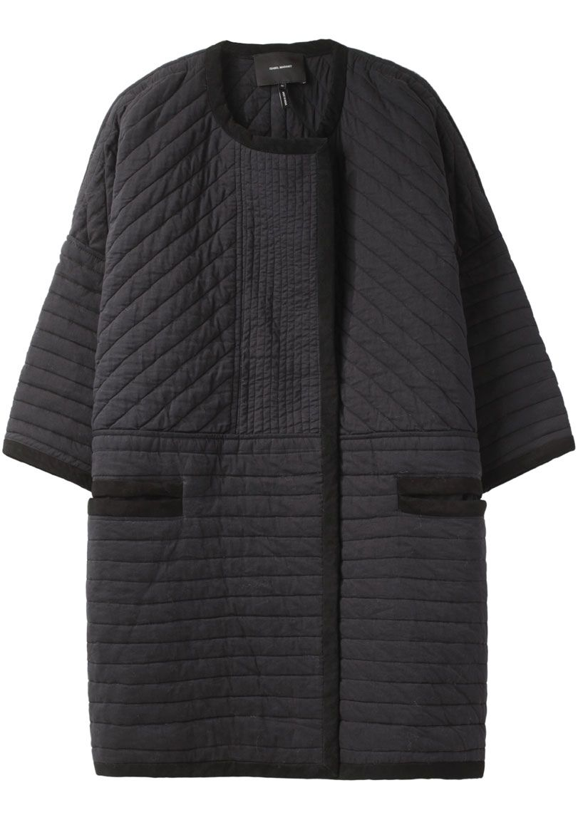 Isabel Marant quilted collarless coat