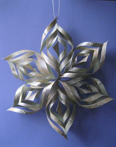 Lovely Lacy Paper Star Ornament U2013 Homemade Christmas Ornaments Homemade Paper  Christmas Decorations | House Decoration Ideas