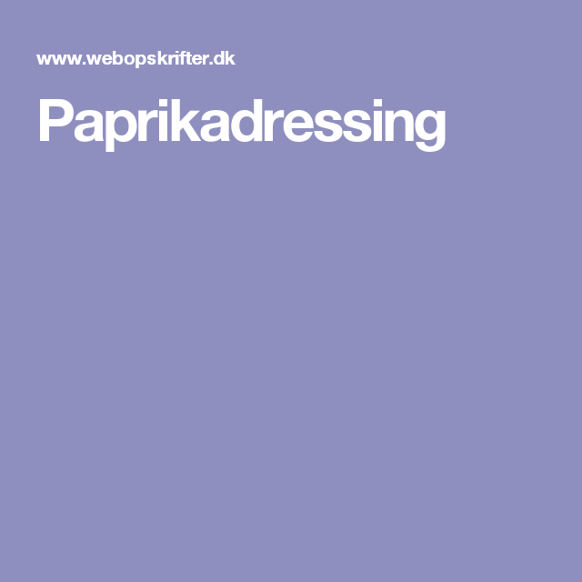 Paprikadressing