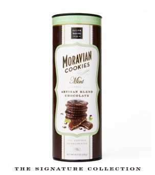 Morvian cookies by Salem Baking Co $10.99.  I picked some up at the Paper Source for $13.95 { melt in your mouth good }