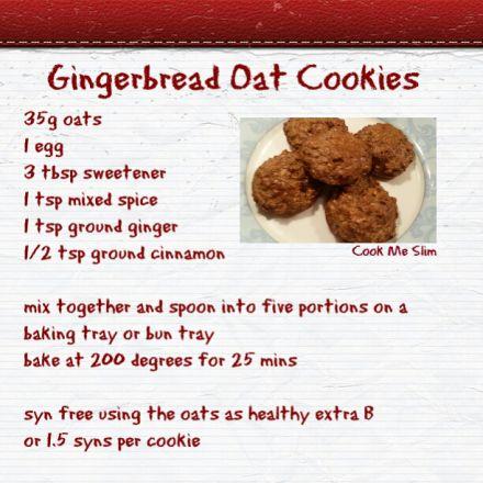 Gingerbread Oat Cookies