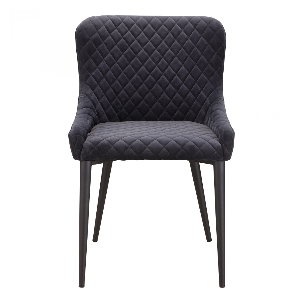 Etta Dining Chair Dark Grey Products Moe S Wholesale Side Chairs Dining Dining Chairs Moe S Home Collection