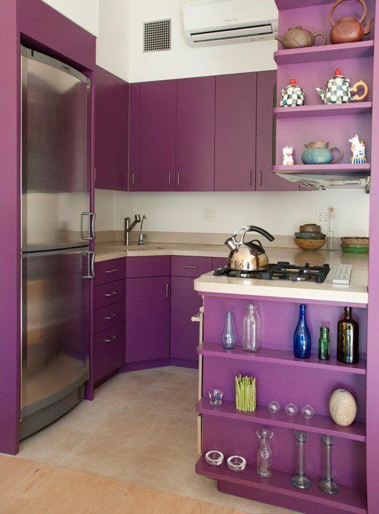 Decoracion de cocinas en color morado 7 decoraci n de - Cocina color lila ...