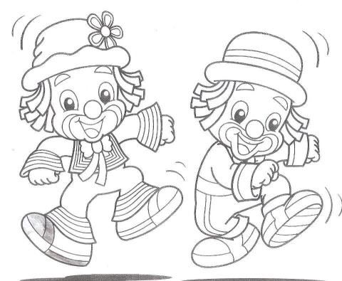 Patati Patata Clown PartyClip ArtKids ColouringStencil DesignsClownsStencilingStampsRisky PicturesDiapers