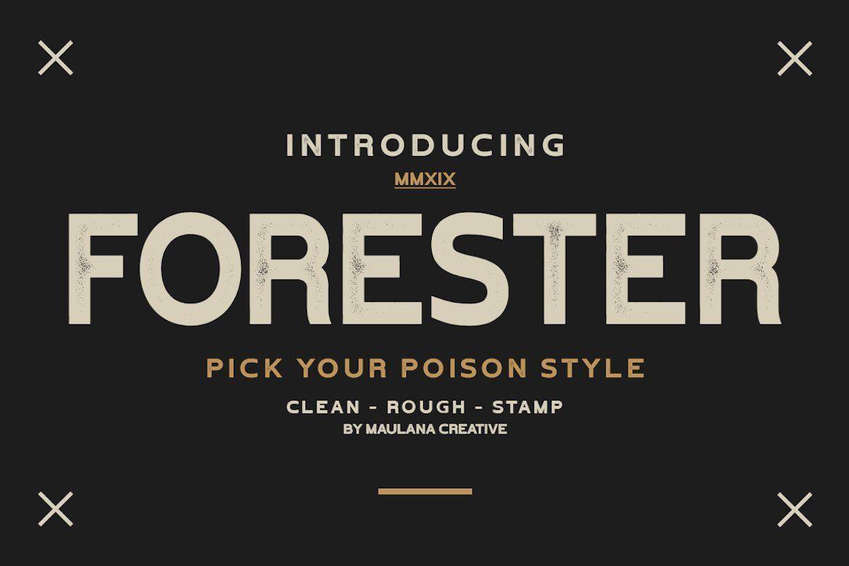 Forester Vintage Sans Serif Desain