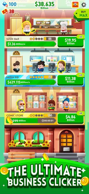 Cash, Inc. Fame & Fortune Game on the App Store Clicker