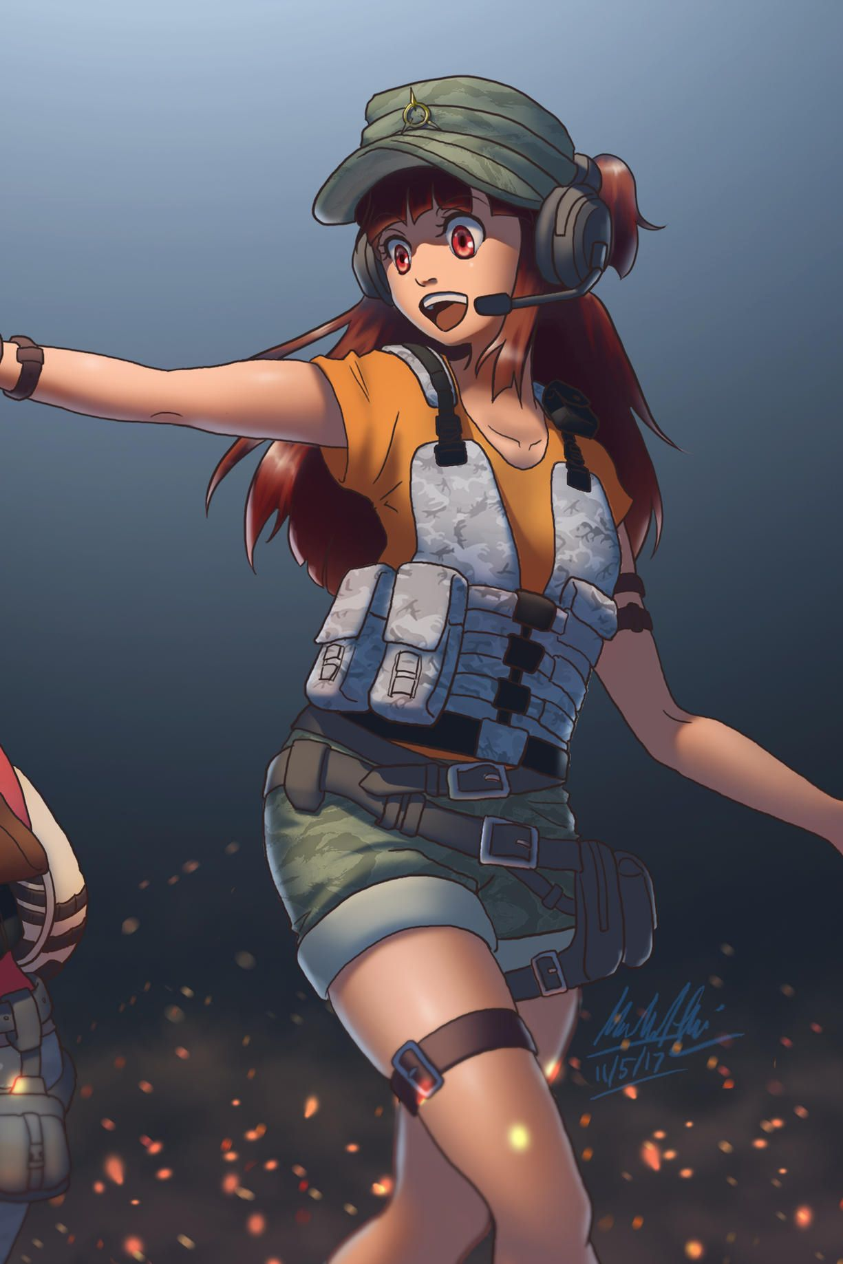 pubg game anime crossover art girl players mobile