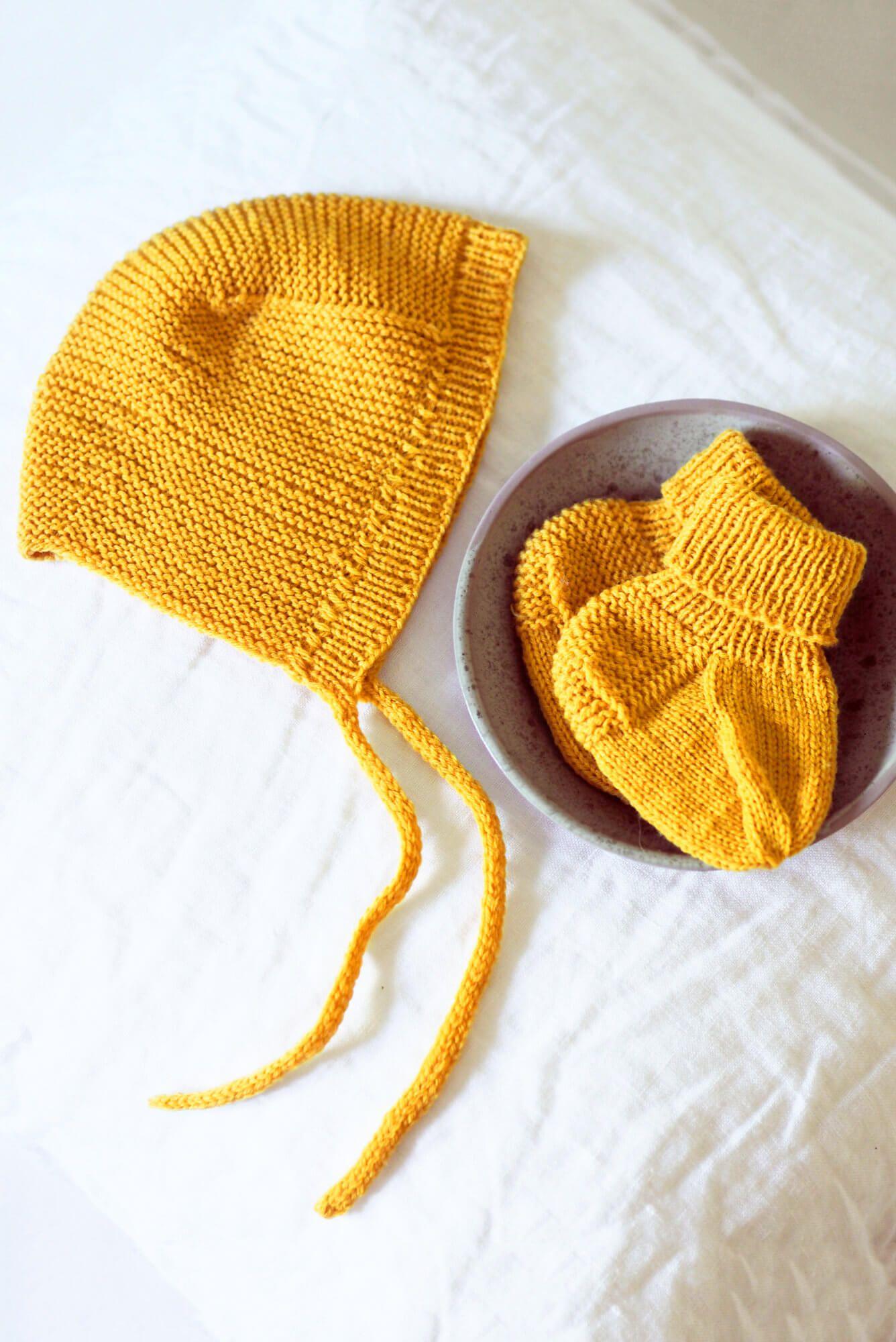 Baby-Set aus Mütze und Socken #strickanleitungbaby