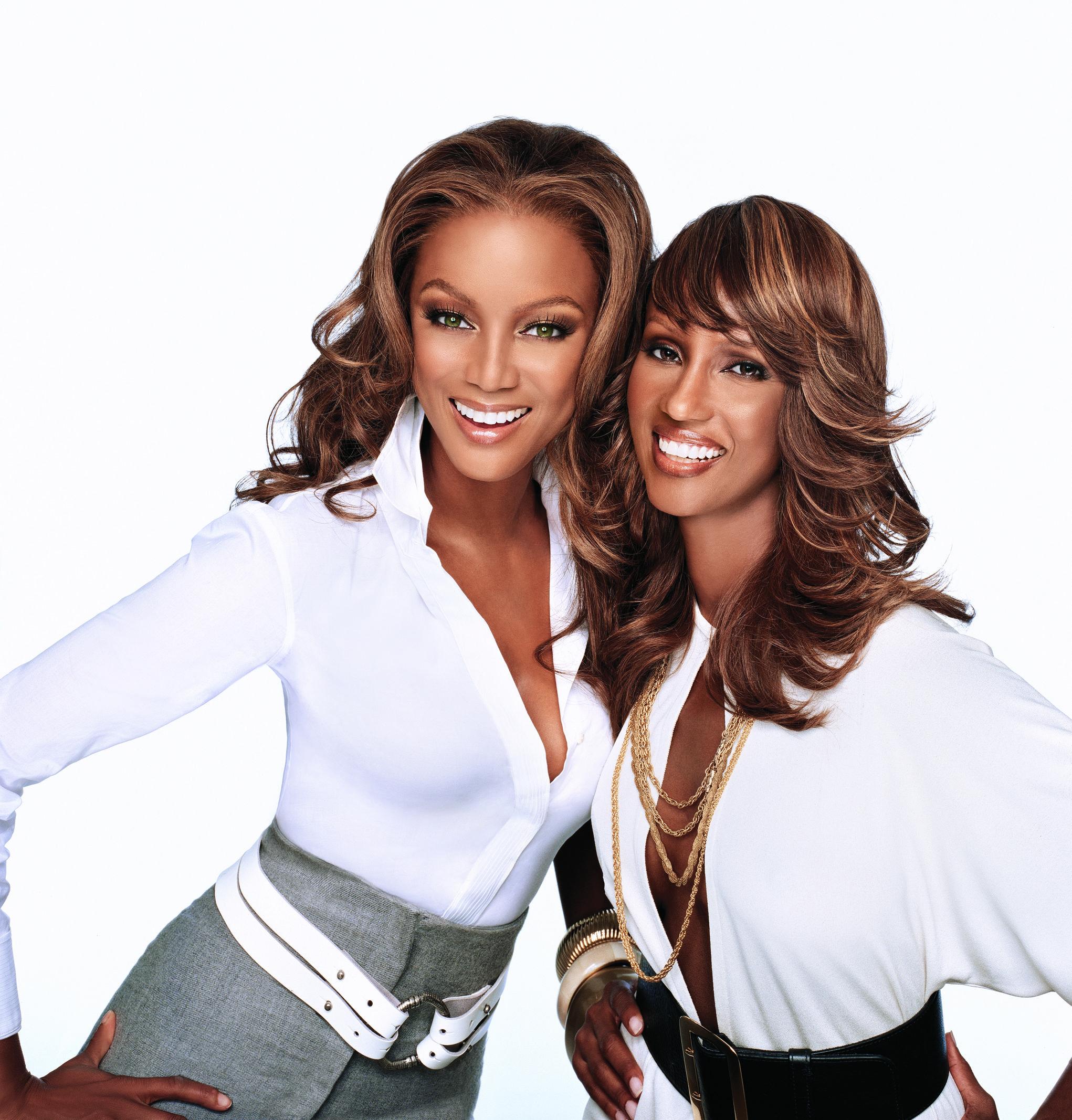 Tyra Banks and Iman Beautiful legends Fashion, Tyra