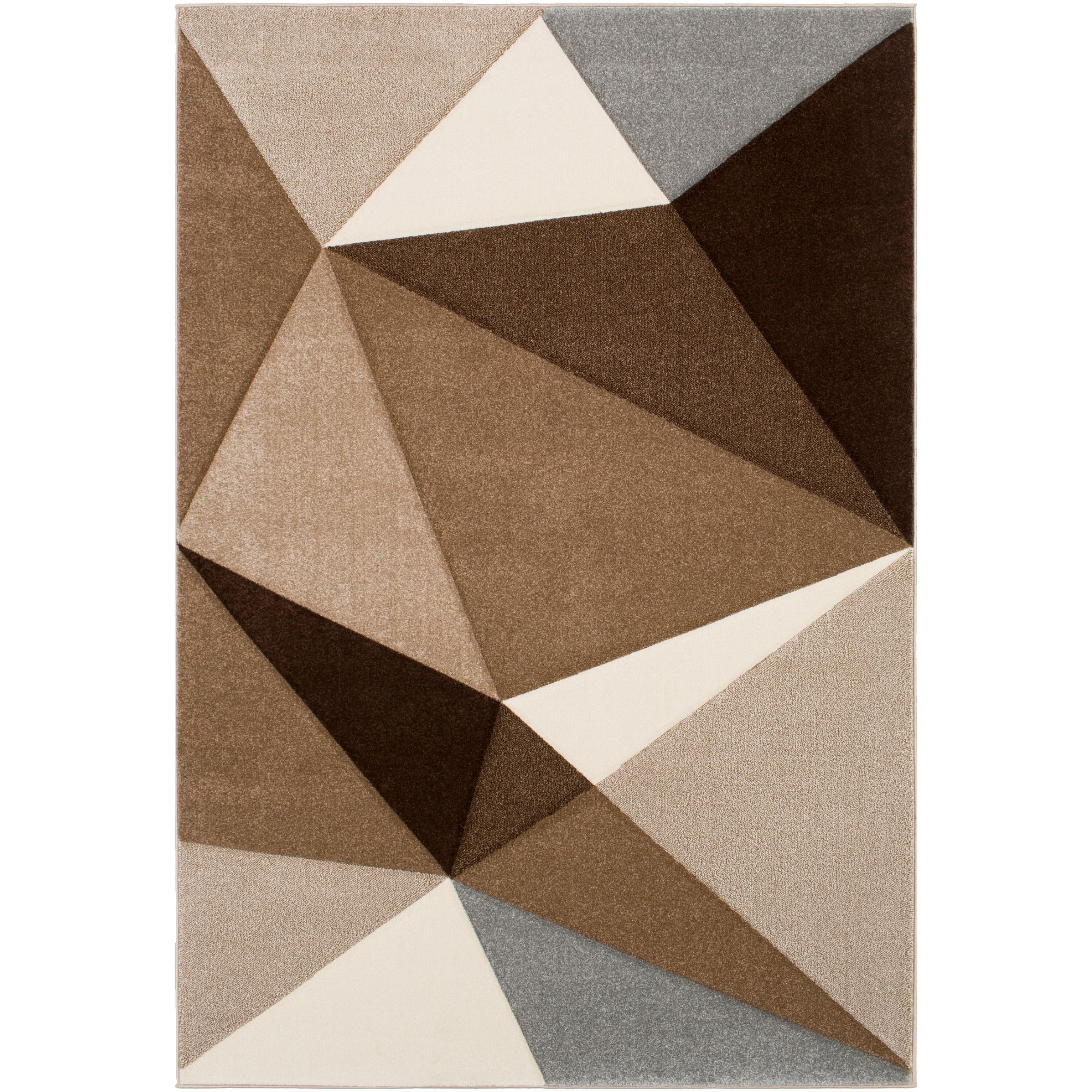 2 5 X 7 5 Geometric Patterned Brown And Black Rectangular Area Throw Rug Runner In 2021 Area Rugs Area Throw Rugs Industrial Area Rugs