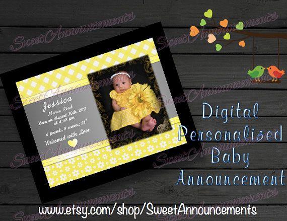 Digital Personalized Announcement (5x7\