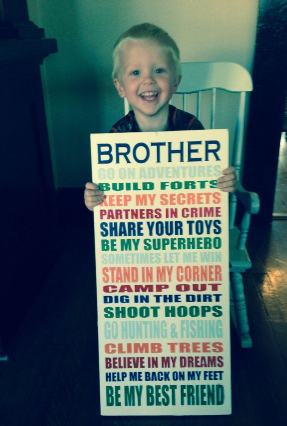 Custom brothers sign painted wood brother by TinasTinkers on Etsy