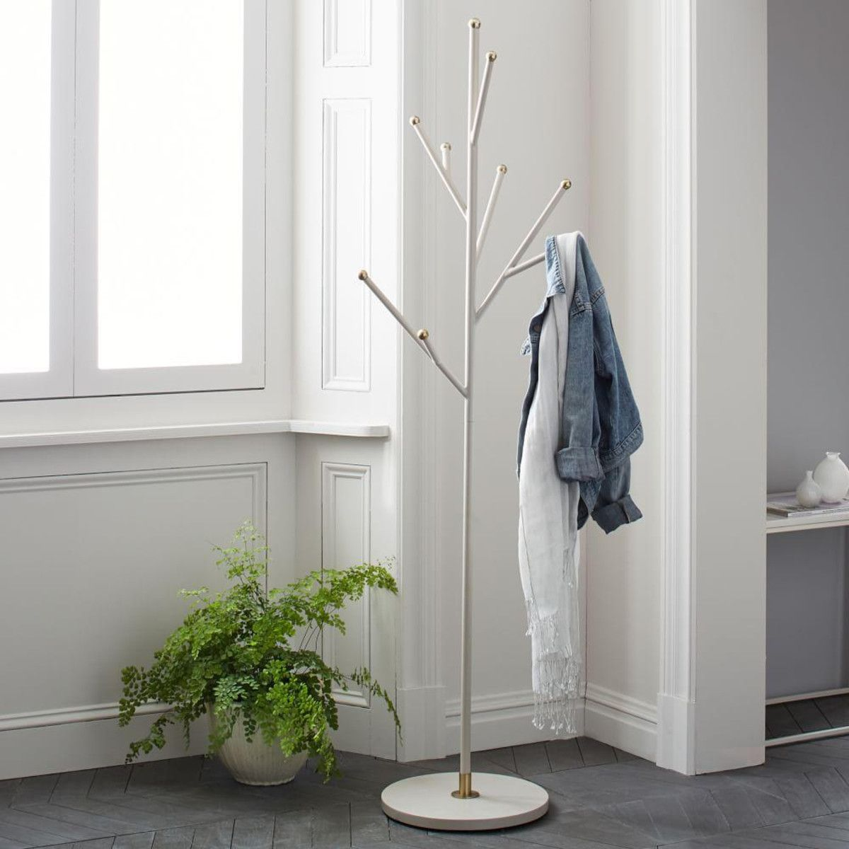 Hallway furniture coat rack  Tree Coat Rack  Parchment  west elm AU  Hallway  Pinterest