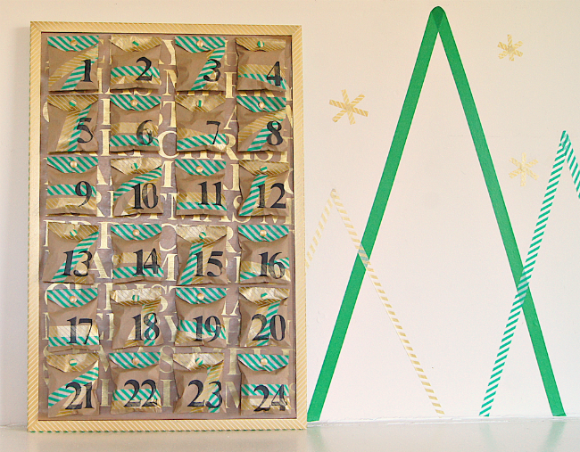 Omiyage Blogs: DIY Kraft + Washi Tape Advent Calendar