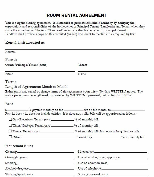 free room rental lease agreement template free room rental lease - sample tenancy agreement