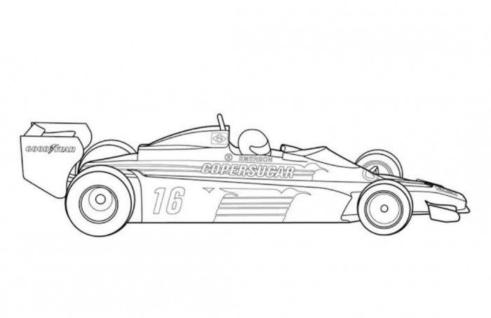 Fittipaldi Classic Race Car Coloring Page Free Online