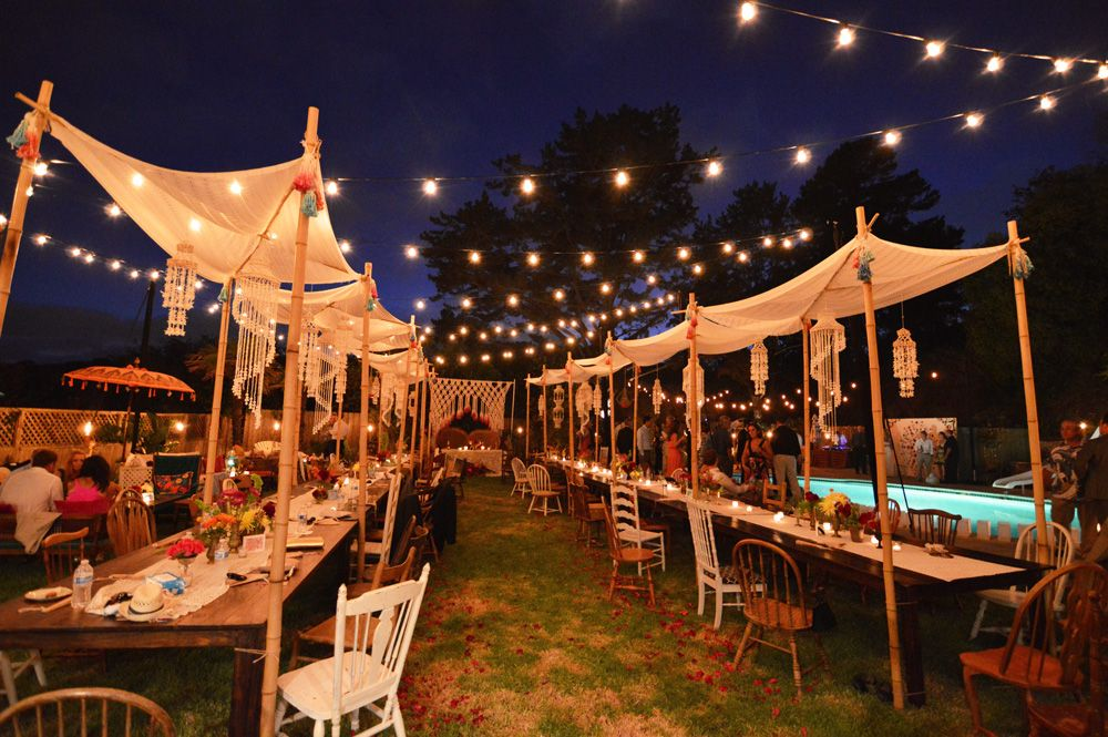 outdoor wedding lighting for your night party | Outdoor ...