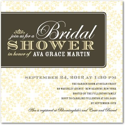 vintage bridal shower invitation. I think Costco members get a ...