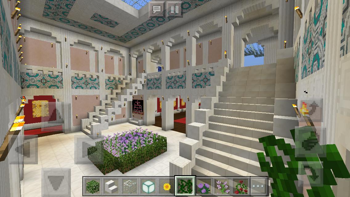 Upstairs Foyer Ideas : My mansion minecraft upstairs foyer