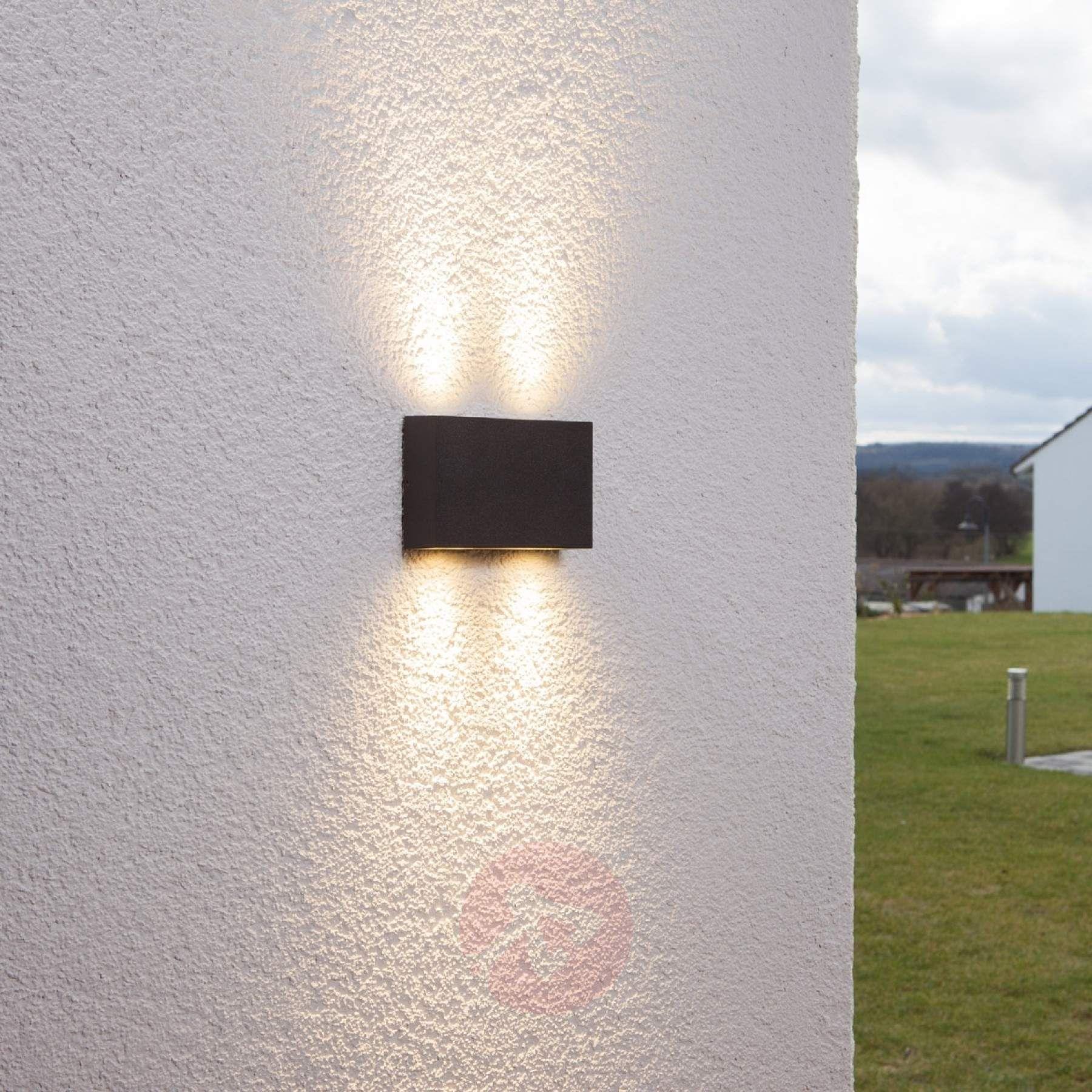 Prostokątna Lampa ścienna Zewnętrzna Henor 4 Led 9616001 02 Outdoor Wall Lighting Wall Lights Outdoor Walls